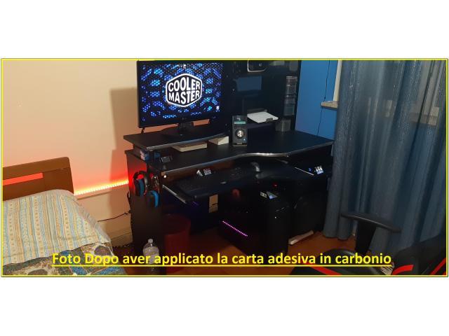 Scrivania Per Pc da Gaming Carbonio - 3/5